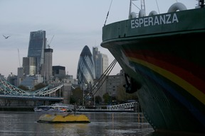 MY Esperanza Arrives in London