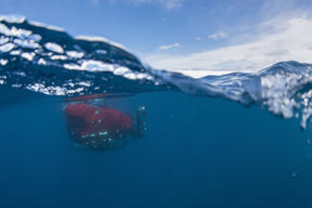 Greenpeace Submarine in the Antarctic