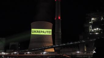 Climate Crisis Projection Action at Thermal Plant in Slovenia - News Access