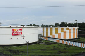 Protest at Shell Depot in Batangas, Philippines