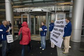 Toxic Action at the Dutch Headquarters of Philips Electronics