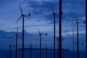 Wind Turbines on Koh Lan Island