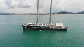 Rainbow Warrior in Songkhla (Aerials)