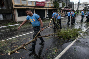 Aftermath of Typhoon Kammuri in the Philippines