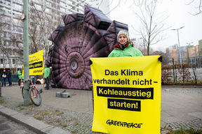 Coal Protest at Exploratory Negotiations in Berlin