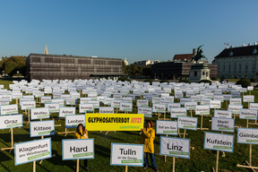 Protest for Glyphosate Ban at Austrian Parliament in Vienna