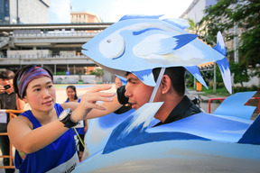 Action in Bangkok to Urge Thai Union for More Sustainable Tuna