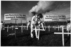 Protest against Nuclear Waste Transport in Switzerland