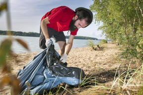 Brand Audit and Clean-up Activity on Moscow's Region River Beach
