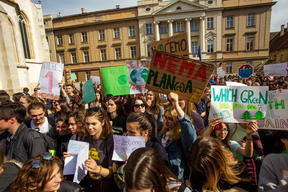 Fridays for Future Student Demonstration in Zagreb