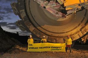 Coal Excavator Action in Czech Republic