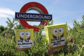 SpongeBob SquarePants is out and about in London