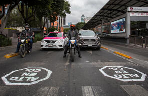 "Insurgentes Avenue ""Tagged"" for Permanent Bike Lanes in México City"