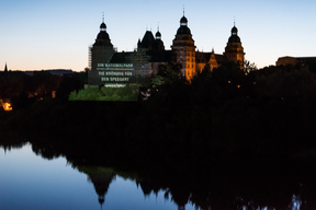 National Park Projection onto Johannisburg Castle in Aschaffenburg