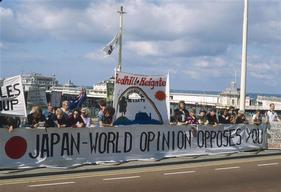 Whaling Protest at IWC Meeting in UK