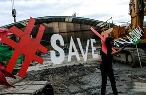 Save X Palaguna Protest in West Java
