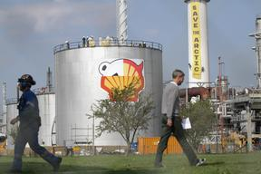 Action at Shell Oil Refinery in Denmark