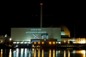 Projection on Nuclear Plant Unterweser