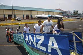MY Esperanza Open Boat at Pier 15 in Manila