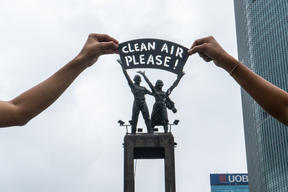 Clean Air Now Photo Op in Jakarta