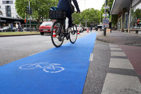 Group Action Day with Pop-Up Bike Lane in Cologne
