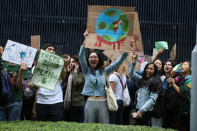 Fridays for Future Student Demonstration in Hong Kong