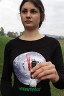 Climate Action Activist with Watch and Tshirt