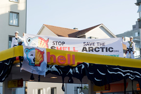 Protest against Oil Drilling Plans from Shell in Zurich Seefeld