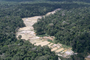 Mining in the Munduruku Indigenous Land in Brazil