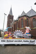 Protest with Carnival Float in Keyenberg