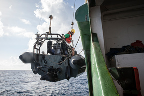 Launching an Inflatable in the Indian Ocean