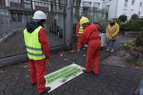 Free the 'Arctic 30' Protest at Russian Embassy in Hamburg