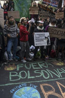 Protest in front of the Brazilian Embassy in Buenos Aires