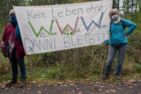 Protest in Dannenroeder Forest