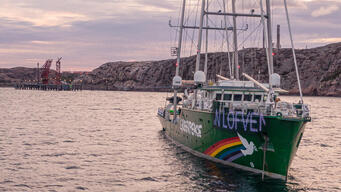 Activists Block Crude Oil Tanker Heading to Preem's Refinery in Lysekil, Sweden