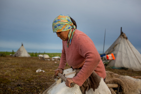 Indigenous Woman in the Taymyr Peninsula