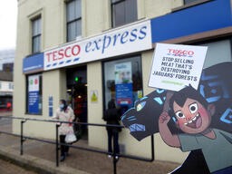 Volunteers Bring Jaguars to Visit Tesco in SW London