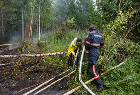 Greenpeace Firefighters Volunteers Training in Russia