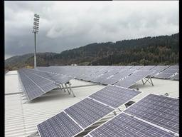Solar Panels at Football Stadium