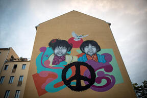 Street Art Project for Peace in Berlin