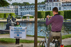 Protest at the Marine Litter Conference in Bremen