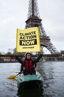 COP 24 Climate Emergency Action on the Seine River in Paris