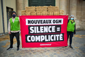 Action in Paris to Question the Government about the new GMOs