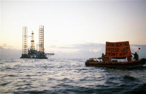 Action against Gas Extraction Platform