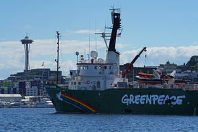 Arctic Sunrise Arrives in Seattle