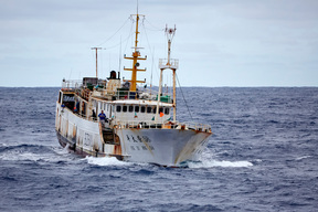 Longline Fishing Vessel in the Pacific Ocean