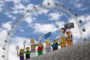 'Save the Arctic' LEGO Scene in London