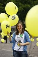 Young Lady Holds Balloons on the 'Plein' at The Hague