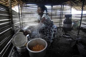 Woman Cooking in DRC