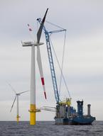 Baltic One Windpark in the Baltic Sea